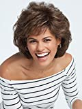 Salsa Avg Cap Wig  Color R56/60 SILVER MIST - Raquel Welch Wigs Women's Layered Pageboy Cut Synthetic Memory Cap Shag