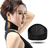 Tourmaline Self-Heating Neckband, Neck Protection, Far Infrared Magnetic Therapy + Hot Moxibustion Care, Keep Warm, Care for Neck Fatigue, Relieve Cervical Strain, Sbr Composite Cloth Black