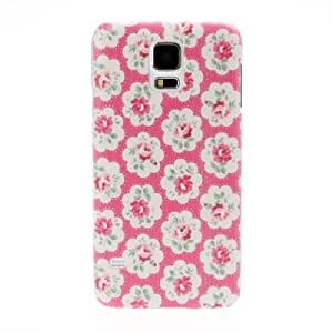 Diebell-- Small Fresh Florals Pink Flowers Hard Case for Samsung Galaxy S5 I9600
