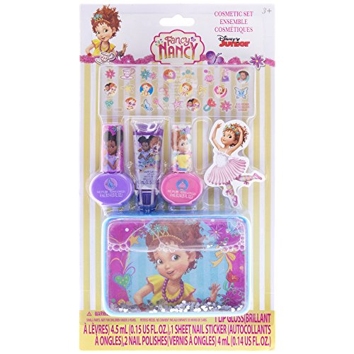 4SGM Townleygirl Fancy Nancy Nail Polish & Stickers with Lip Gloss & Tin