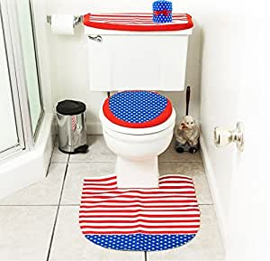 4th of july bathroom decor 4 pcs set for Bathroom ideas amazon