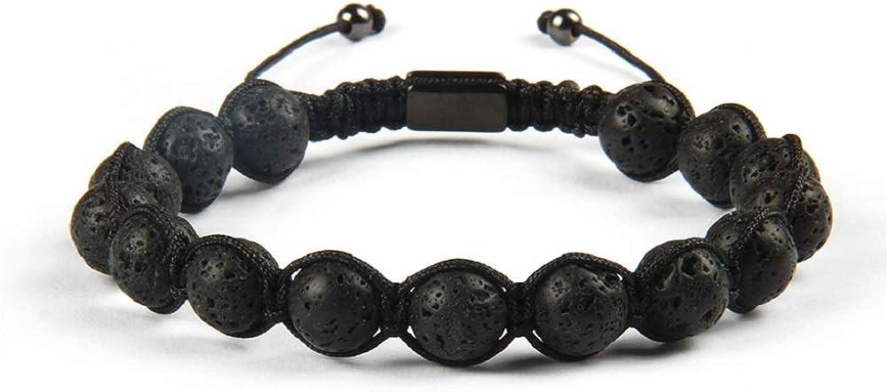Pulsera de piedras duras con cierre ajustable para hombre y mujer.