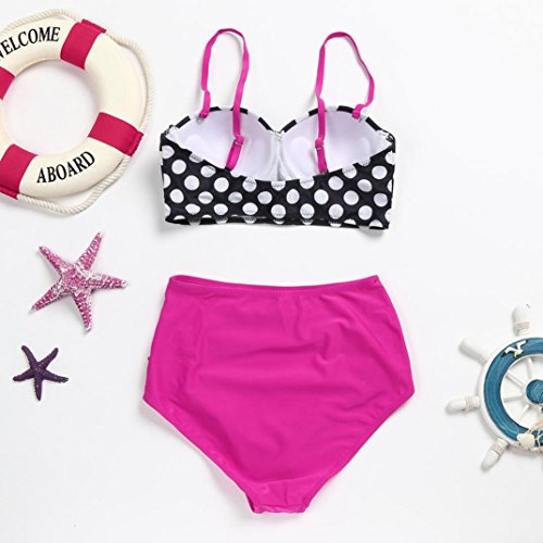 IMJONO.Frauen Push Up gepolsterter BH Bandage Bikini Set Badeanzug Bademode Baden Lila yiJxkSYp5L