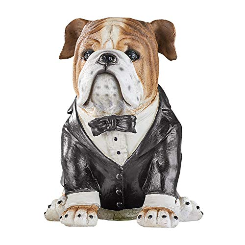 (Collections Etc Dress-Up Wedding Bulldogs Figurine - Outdoor Decorative Realistic Statue for Yard, Garden, or Any Room in Home)