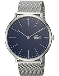 Lacoste Mens MOON Quartz Stainless Steel Casual Watch, Color:Silver-Toned (Model: 2010900)