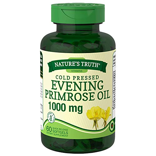 Nature's Truth Cold Pressed Evening Primrose Oil 1000 mg Quick Release Softgels - 60 ct, Pack of 2