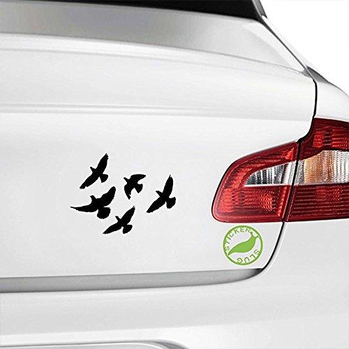 Flock of Birds Decal Sticker (black, 5 inch) (Birds Decals 5 Wall Inch)