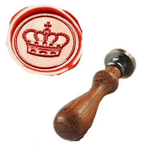 MDLG Vintage Imperial Crown Custom Picture Logo Wedding Invitation Wax Seal Sealing Stamp Rosewood Handle Set (Wax Stamp Seal Crown compare prices)