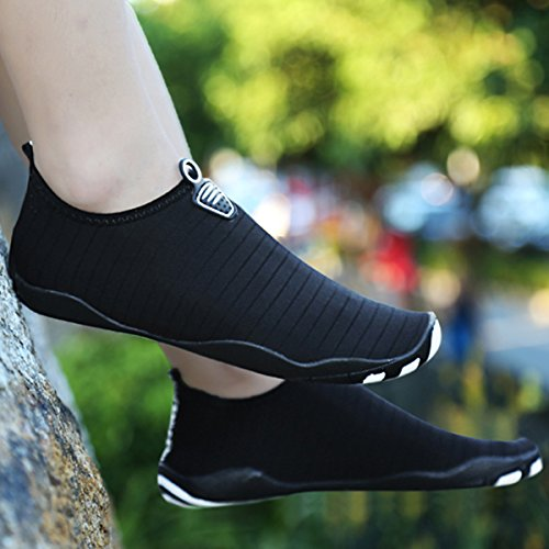 Pure Heeled Outdoor Mutifunctional Unisex RUN Mesh L Wading Black Flat Breathable Shoes Casual Sports FZ71Pq