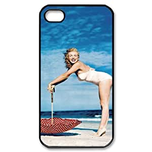 J-LV-F Customized Print Marilyn Monroe Pattern Back Case for iPhone 4/4S