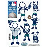 MLB Seattle Mariners Small Family Decal Set