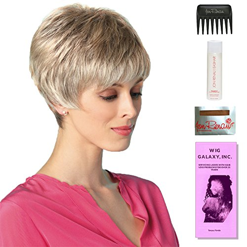 Rosie by Amore, Wig Galaxy Hair Loss Booklet, 2oz Travel Size Wig Shampoo, Wig Cap, & Wide Tooth Comb (Bundle - 5 Items), Color Chosen: Marble Brown ()