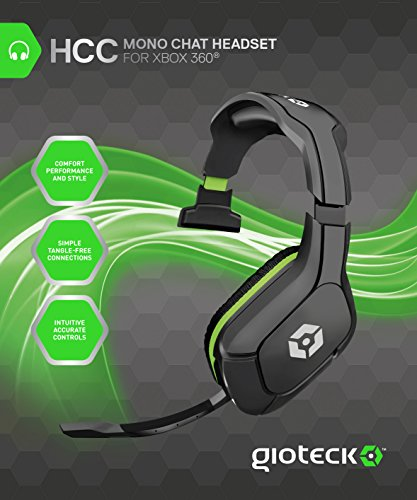 Gioteck HCC Wired Mono Chat Headset – Xbox 360