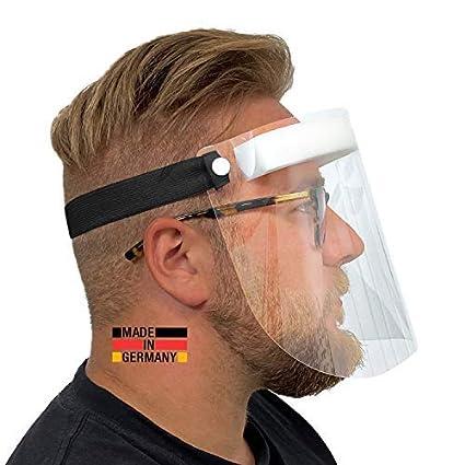 Hard 1 x Visera de protección Facial de plástico | Protector Facial en Negro | Visera Universal para Adultos Visor para Proteger contra líquidos