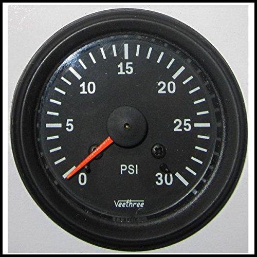 Veethree 160831 Boost Gauge 30PSI (B/B) with Tubing Kit:
