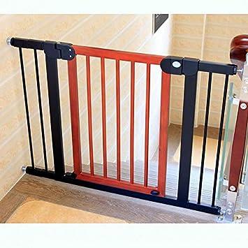 Huo Bebé de Madera Aislamiento Puerta - Cubierta Escalera Barrera Gates, Valla de Seguridad for Niños (Size : 90-97cm): Amazon.es: Hogar