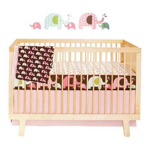 Skip Hop Complete Sheet 4 Piece Crib Bedding Sets, Pink Elephant (Discontinued by Manufacturer) [並行輸入品]   B077ZQLBLK