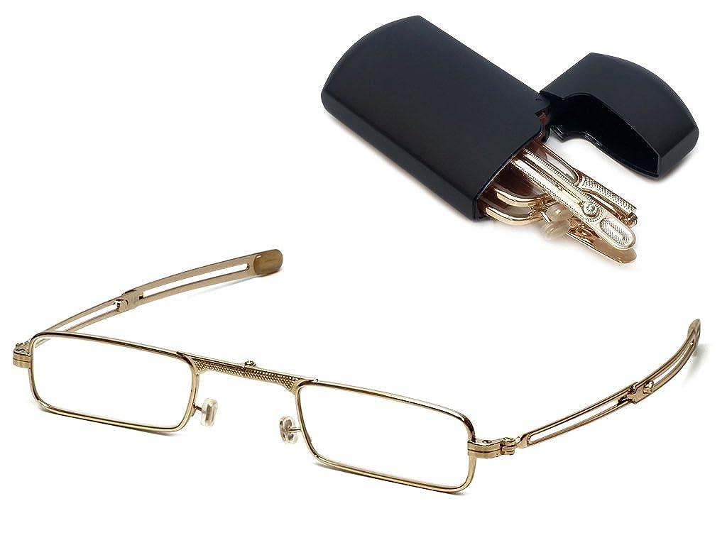 8d1dac3bef Amazon.com  Original Patented Mini-Foldtm Folding Reading Glasses with Flip  Top Hard Case