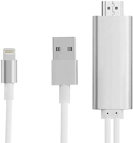 LECMARK - Adaptador de vídeo HDMI a HDMI HD TV HDTV AV Cable Adaptador para iPad Air iPhone 7 7 Plus iPhone 6 6 Plus iPad Mini: Amazon.es: Electrónica