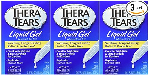 Thera Tears Liquid Gel Eye Drops, 3 Count