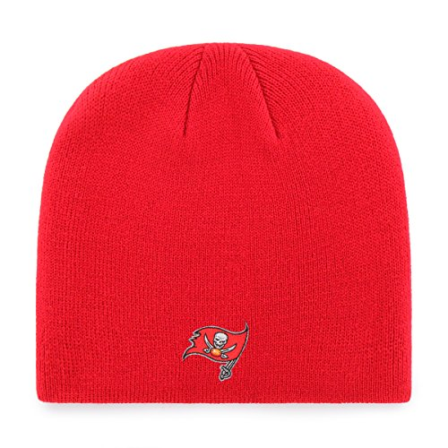 NFL Tampa Bay Buccaneers Men's OTS Beanie Knit Cap, Team Color, One Size (Tampa Bay Buccaneers Beanie)