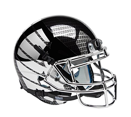 NCAA Oregon Ducks Chrome Wing and Carbon Fiber Authentic Helmet, One Size by Schutt