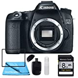 Canon EOS 70D Body, 8GB SDHC Class 10 Memory Card, Table Top Tripod, Lens Cleaning Kit and LCD Screen Protectors
