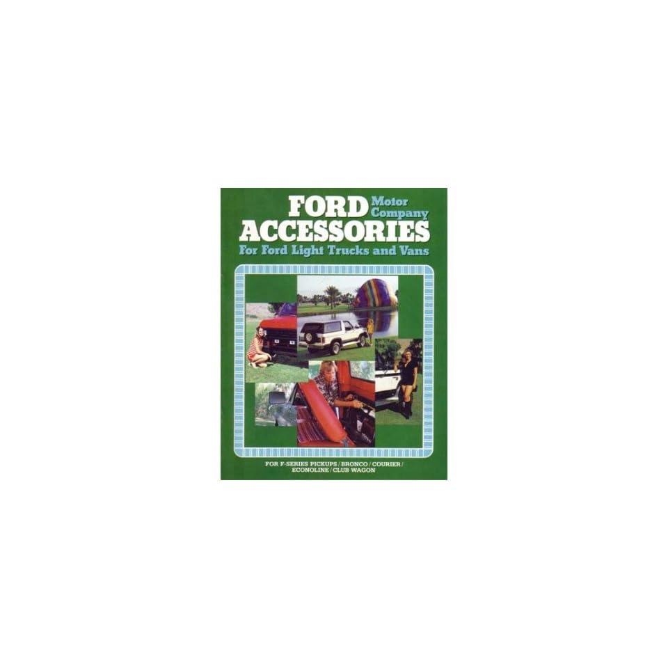 1980 Ford Truck Accessories Sales Brochure Literature Piece Dealer Advertisement
