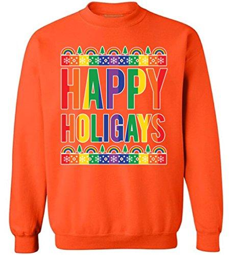 We Will Rock You Costumes Ideas (Awkward Styles Happy Holigays Christmas Sweatshirt Happy Holigays Sweater Xmas Gifts Orange 5XL)