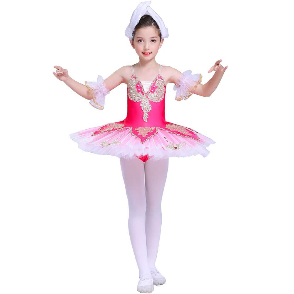 rouge 150cm YONGMEI Jupe de Ballet Sling Dance Peu Swan pour Enfants, lac des cygnes Tutu (Couleur   rouge, Taille   110cm)