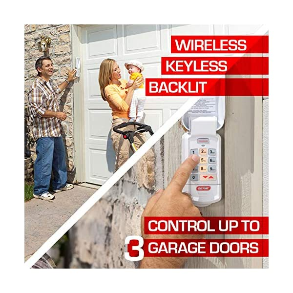 Genie-Garage-Door-Opener-Wireless-Keyless-Keypad-Safe-Secure-Access-Compatible-with-All-Genie-Intellicode-Garage-Door-Openers-Easy-Entry-into-the-Garage-With-a-PIN-Model-GK-R