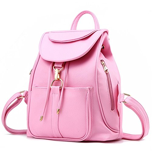 Ryse Womens Fashionable Classic Exquisite Metal Buckle Backpack Leather Students - In Uk Shoping