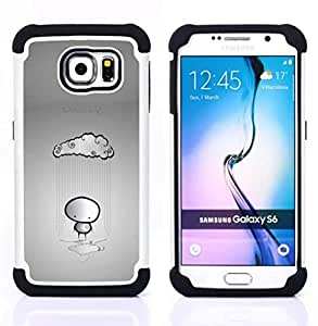 - In Love And Lonely Emo/ H??brido 3in1 Deluxe Impreso duro Soft Alto Impacto caja de la armadura Defender - SHIMIN CAO - For Samsung Galaxy S6 G9200