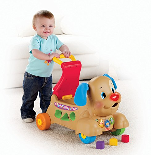 51BCQnbumVL - Fisher-Price Laugh & Learn Stride-to-Ride Puppy [Amazon Exclusive]