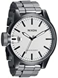 Nixon A1981166 chronicle ss white dial sanded stainless steel bracelet men watch NEW