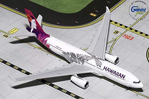 (GeminiJets Daron GJHAL1787 Hawaiian A330-200 Livery N380HA / GEMGJ1787 1:400 Hawaiian Airbus A330-200 Reg #N380HA (pre-Painted/pre-Built) )