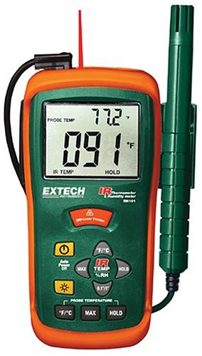 Extech RH101 Combination Humidity Meter and Infrared Thermometer by Extech