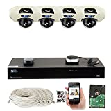 Cheap GW Security 5-Megapixel 8 Channel PoE 4K NVR Security Camera System – 4 5MP Video Audio Surveillance Weatherproof Microphone IP PoE Dome Cameras, 1.9mm 160° Super Wide Angle Lens