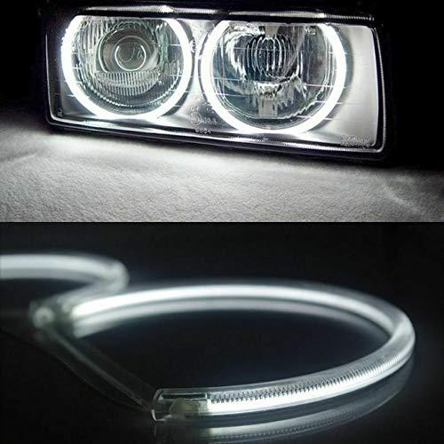 LpfbGezfnwb Wei/ße Scheinwerfer SMD LED Angel Eyes Halo Ringe f/ür BMW E39 E46 3 5er wei/ß