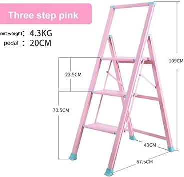LADDER una Escalera Escalera de Dos un Taburete Silla Metal Escalera Taburete Plegable Barras de Seguridad Metal Taburete Escalera Las Esc: Amazon.es: Bricolaje y herramientas