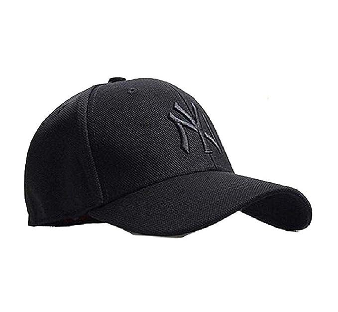 2515c4adf407 SHVAS Black NY Stylish Unisex Baseball Cap  BLACKNYBB   Amazon.in ...
