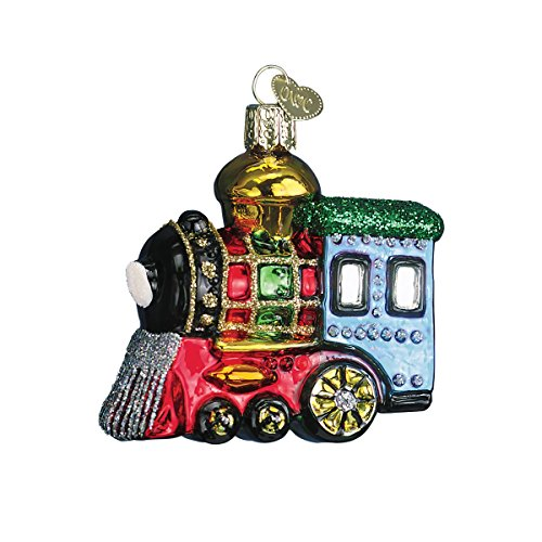 Old World Christmas Small Locomotive Glass Blown Ornament