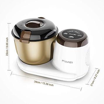 FIMEI - Robot de cocina multifunción con función de fermentación y cronómetro, control por microordenador, 3 modos, mezclador silencioso, amasadora con cuenco antiadherente de 3,5 l: Amazon.es: Hogar