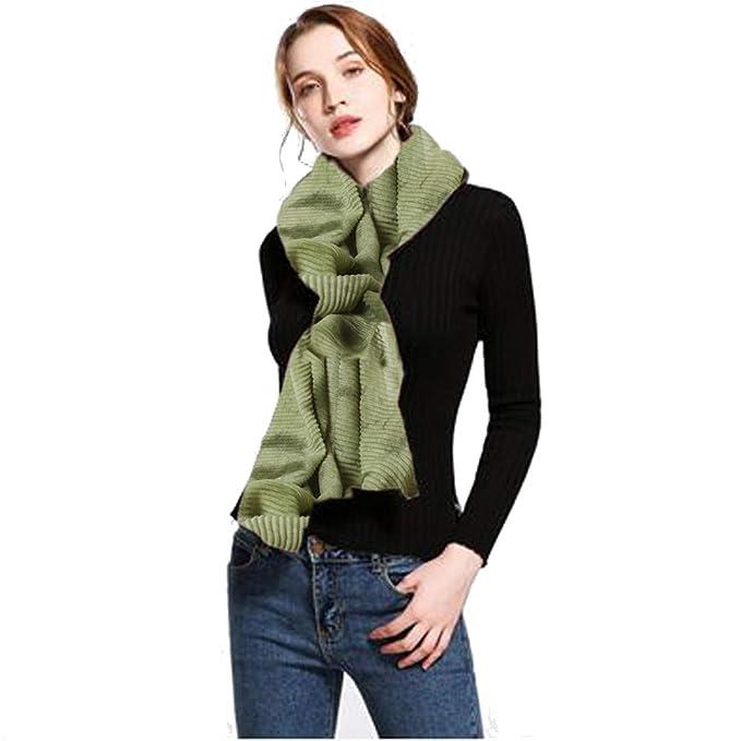 3dca43eba Algerc 2018 new style fashion retro nation shawl women soft warm scarf for  winter (Green