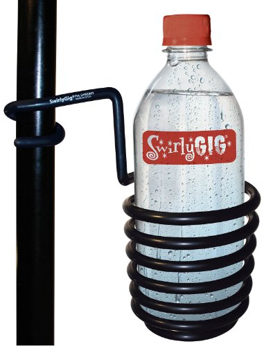 (SwirlyGig SG2000 II Drink Holder for 1 Tubing, Black)