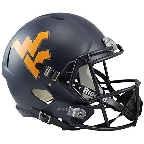 West Virginia Helmet - Riddell West Virginia Mountaineers Officially Licensed NCAA Speed Full Size Replica Football Helmet