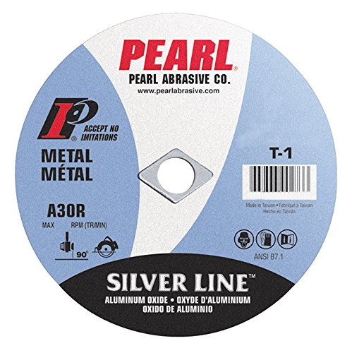 Pearl 4'' x 1/16'' x 3/8'' Silver Line AL/OX Cut-Off Wheel (Pack of 25)