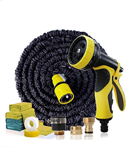 75FT Expandable Garden Hose Pipe with 7 in 1 Spray Gun (BLUE) - 4