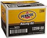 Pennzoil 3623-12PK GT Performance 25W-50 Racing Oil - 1 Quart, (Pack of 12)