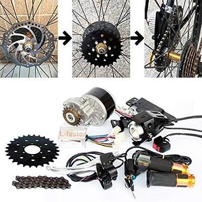 L-faster 250W Cepillo Motor Bicicleta Kit de conversión Bicicleta ...